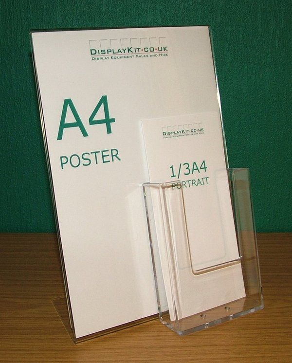 Poster Holder with Leaflet Pocket